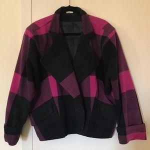 Mondi Pink and Black Wool Coat